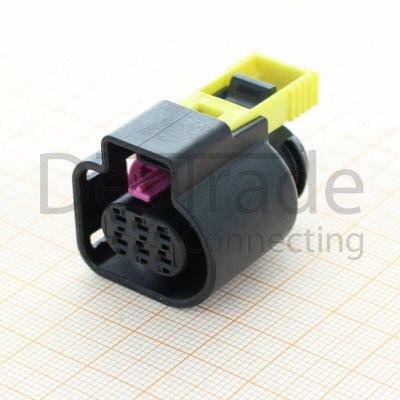 bosch 1928404900 - 6 way wiring harness connector bak